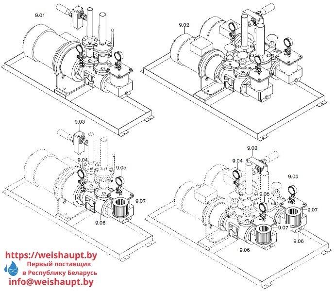 Запчасти к жидкотопливным горелочным устройствам Weishaupt WKL 80/3-A ZM(H) (W-FM 100/200). Схема 9.