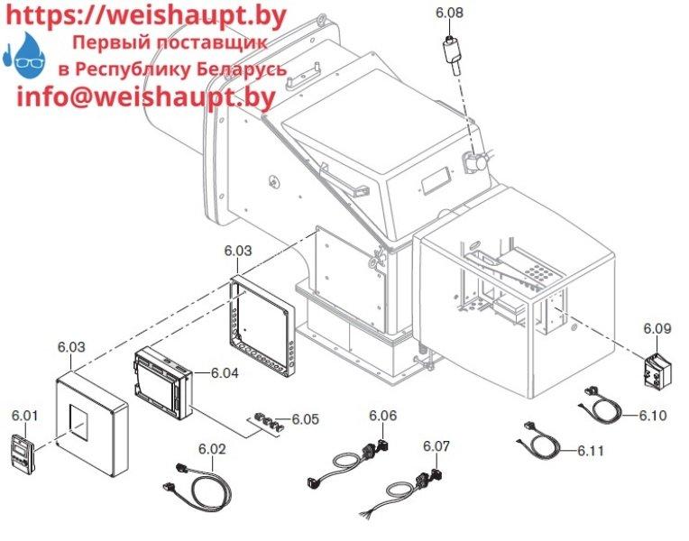 Запчасти к жидкотопливным горелочным устройствам Weishaupt WKL70/3-A. Схема 6.
