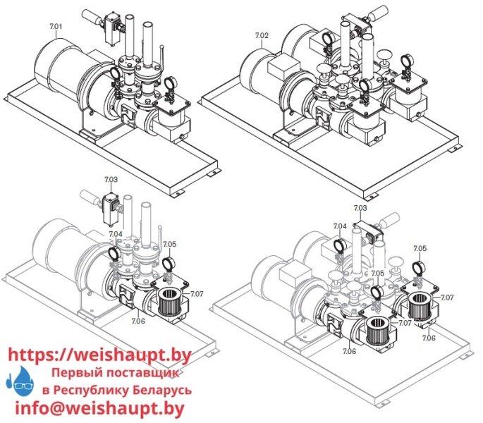 Запчасти к жидкотопливным горелочным устройствам Weishaupt WKL70/3-A. Схема 7.