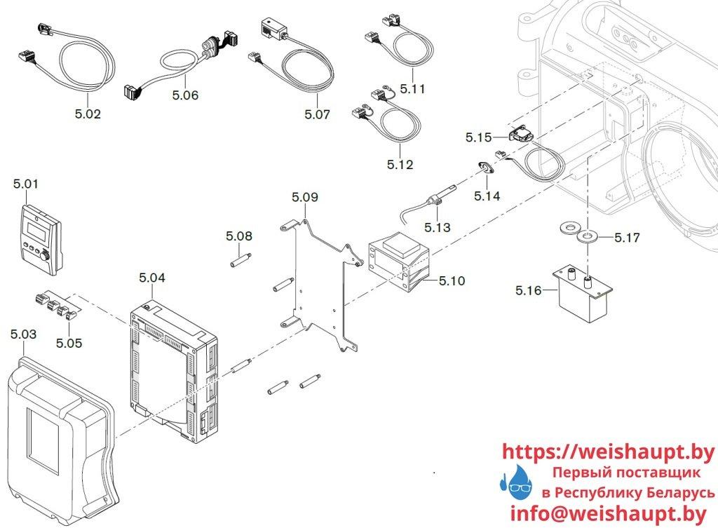 Запчасти к жидкотопливным горелочным устройствам Weishaupt WМ-L10/3-А/R. Схема 5.