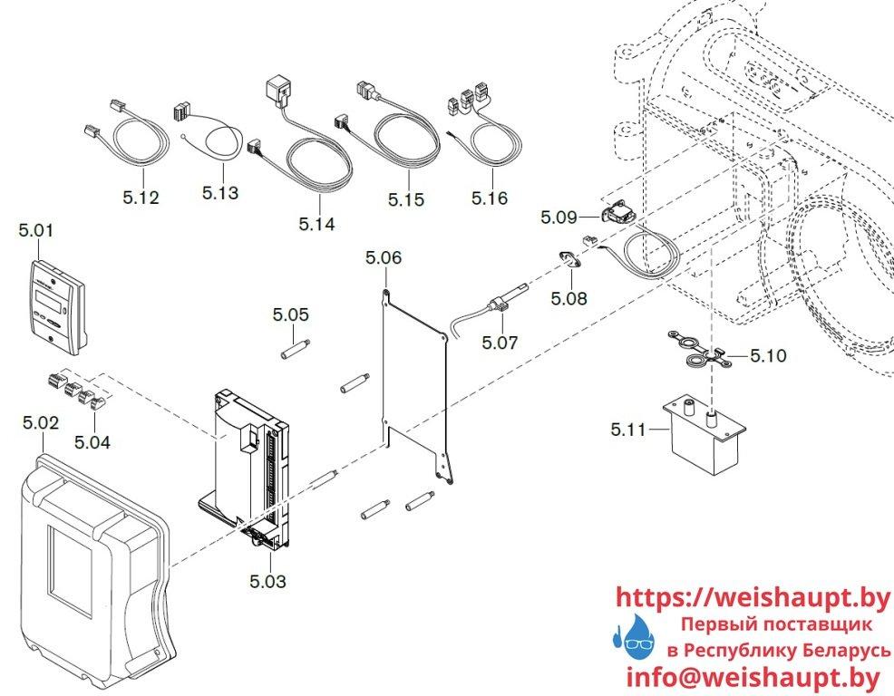 Запчасти к жидкотопливным горелочным устройствам Weishaupt WM-L10/1-A/T (W-FM 50). Схема 5.