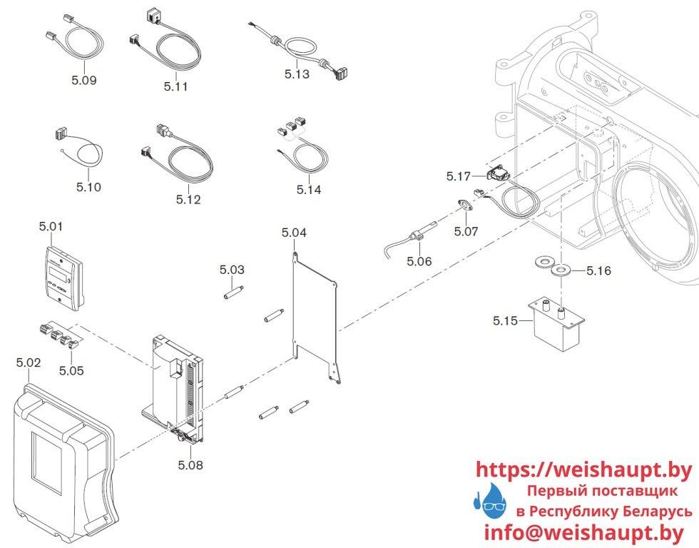 Запчасти к жидкотопливным горелочным устройствам Weishaupt WM-L10/2-A/T (W-FM 50). Схема 5.