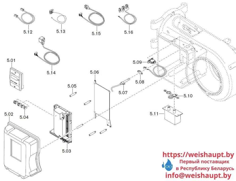 Запчасти к жидкотопливным горелочным устройствам Weishaupt WM-L10/3-A/T (W-FM 50). Схема 5.