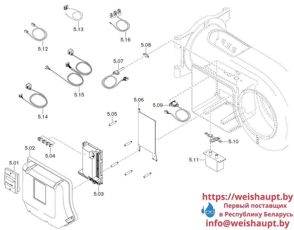 Запчасти к жидкотопливным горелочным устройствам Weishaupt WM-L20/1-A/T (W-FM 50). Схема 5.