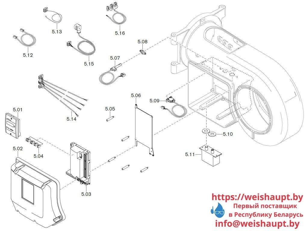 Запчасти к жидкотопливным горелочным устройствам Weishaupt WM-L20/3-A/R (W-FM 50). Схема 5.