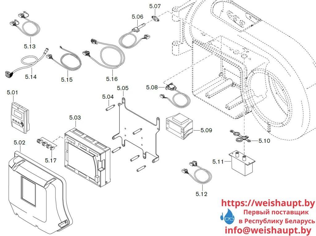 Запчасти к жидкотопливным горелочным устройствам Weishaupt WM-L30/1-A/T (W-FM 100/200). Схема 5.