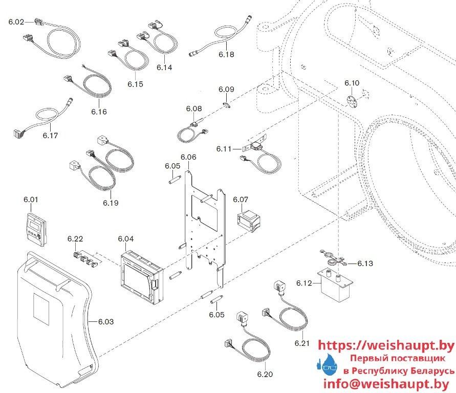 Запчасти к жидкотопливным горелочным устройствам Weishaupt WM-L50/2-A/R (W-FM100/200). Схема 6.