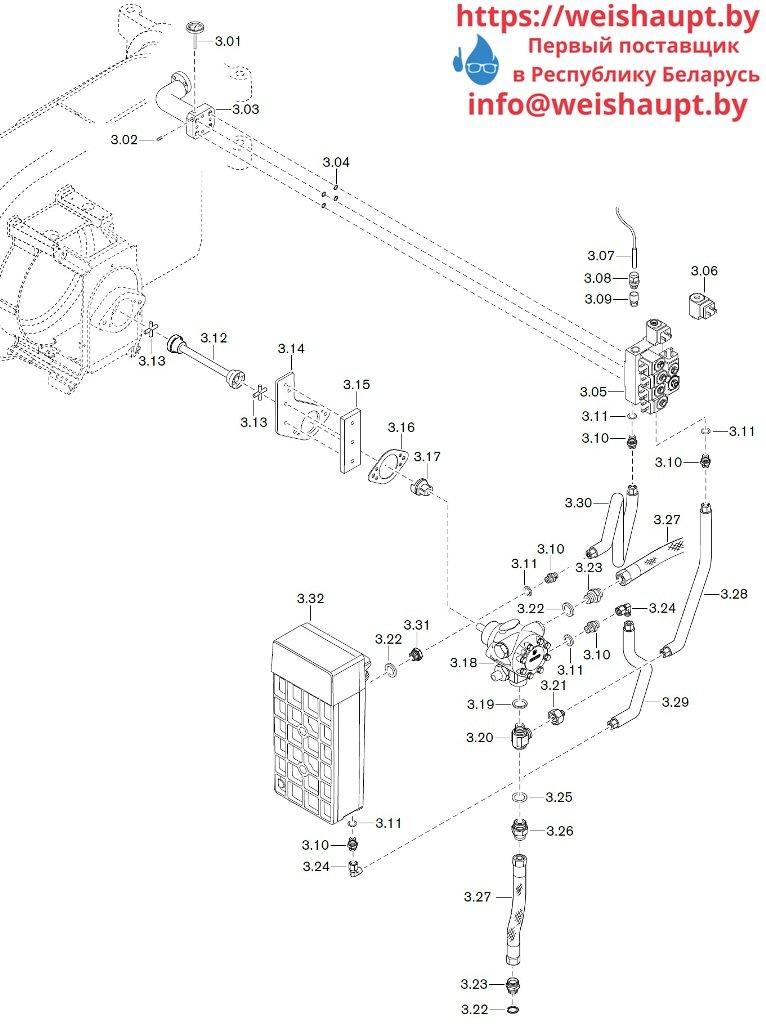 Запчасти к жидкотопливным горелочным устройствам Weishaupt WM-L10/3-A/T (W-FM 50). Схема 4.Запчасти к жидкотопливным горелочным устройствам Weishaupt WM-S10/3-A/T (W-FM 50). Схема 4.
