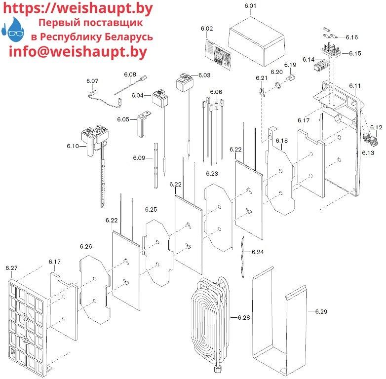 Запчасти к жидкотопливным горелочным устройствам Weishaupt WM-S10/3-A/T (W-FM 50). Схема 6.