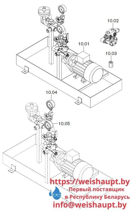 Запасные части к комбинированной горелке Weishaupt WKGL 70/1-B ZM(H) (W-FM 100/200). Схема 10.