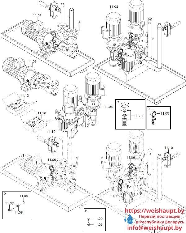 Запасные части к комбинированной горелке Weishaupt WKGL 70/1-B ZM(H) (W-FM 100/200). Схема 11.