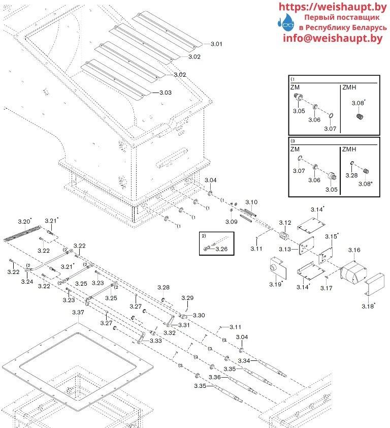 Запасные части к комбинированной горелке Weishaupt WKGMS 80/3-A ZM(H)-NR (W-FM 100/200). Схема 3.