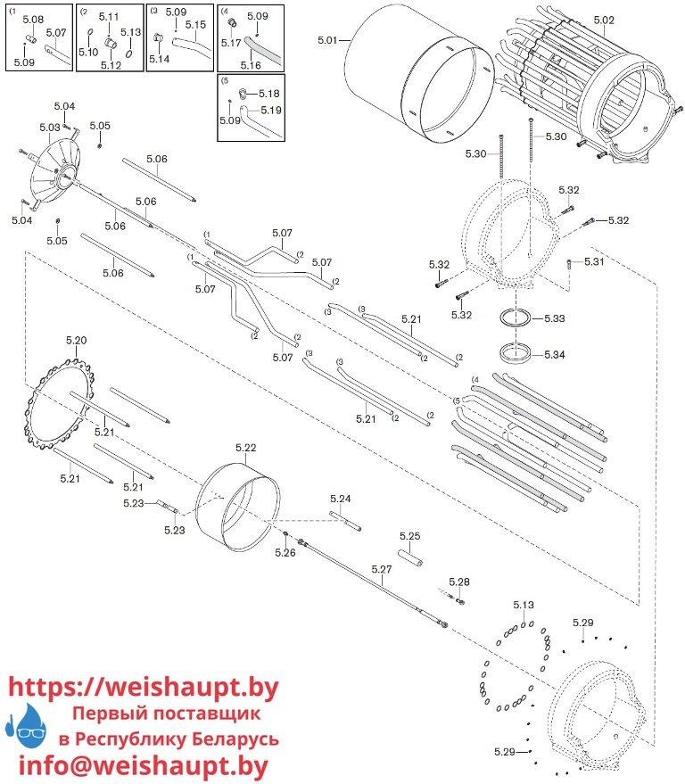 Запасные части к комбинированной горелке Weishaupt WKmono-GL80/2-A/ZM-R-NR. Схема 5.