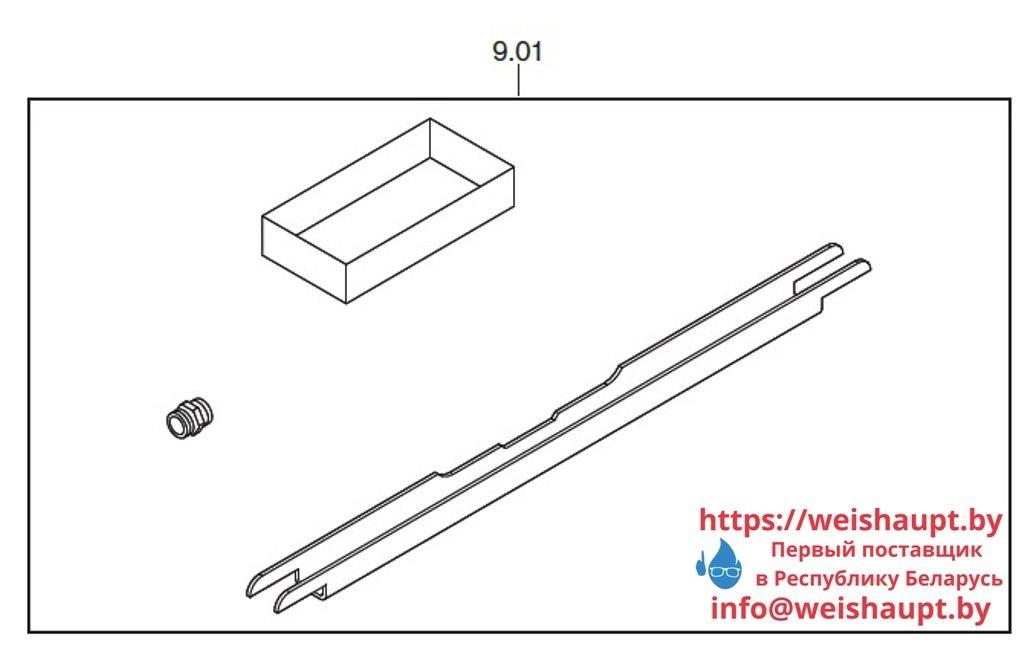 Запасные части к комбинированной горелке Weishaupt WKmono-GL80/2-A/ZM-R-NR .Схема 9.