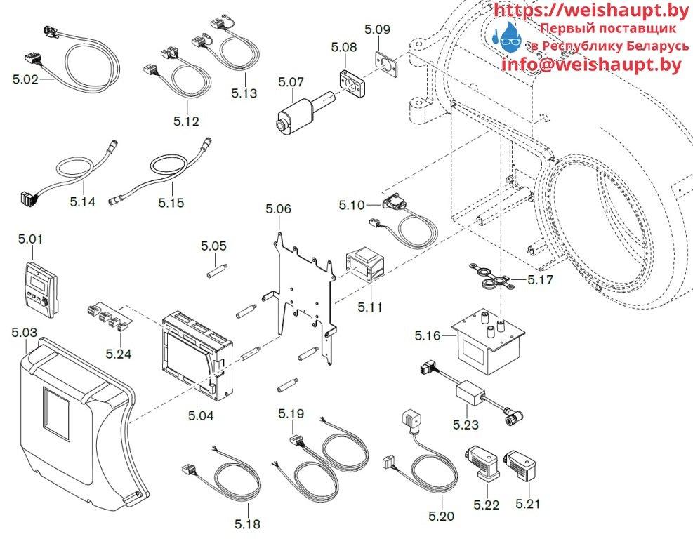Запасные части к комбинированной горелке Weishaupt WM-GL30/1-A/ZM-R (W-FM 100/200). Схема 5.