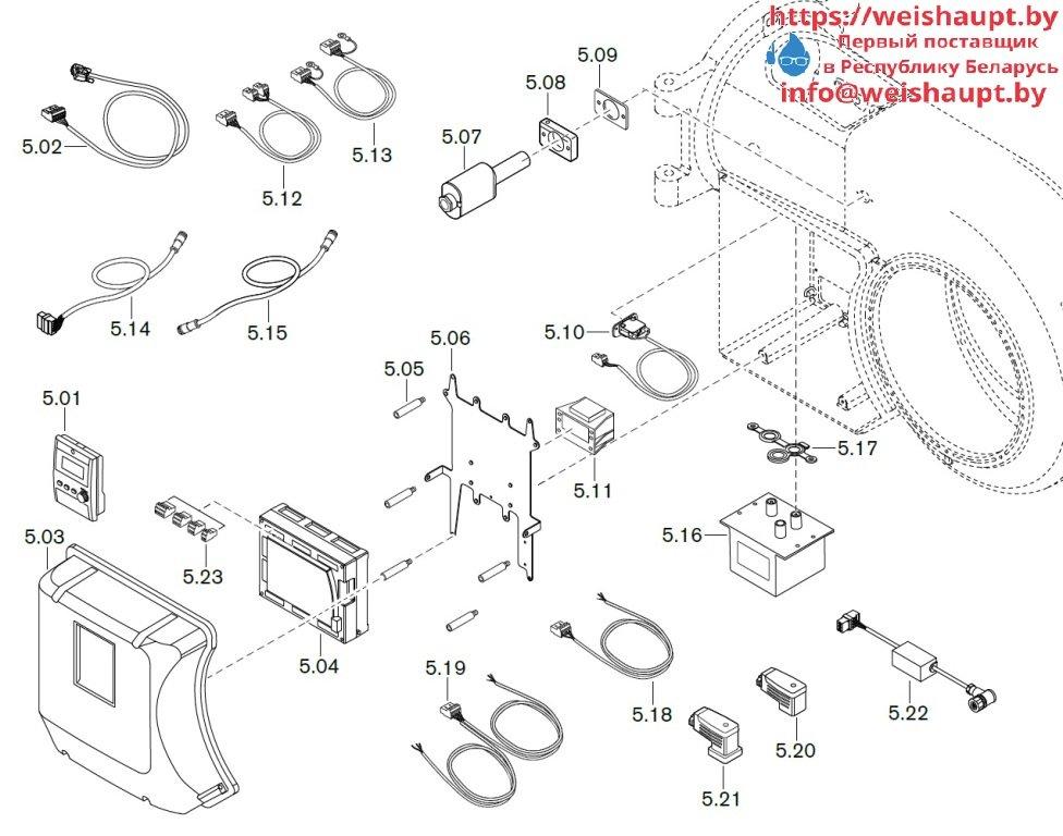 Запасные части к комбинированной горелке Weishaupt WM-GL30/2-A/ZM-T (W-FM 100/200). Схема 5.
