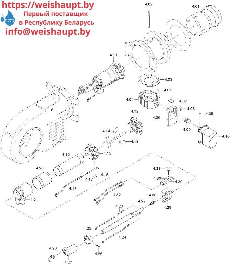 Запасные части к комбинированной горелке Weishaupt WM-GL30/3-A/ZM-R (W-FM 100/200) 5