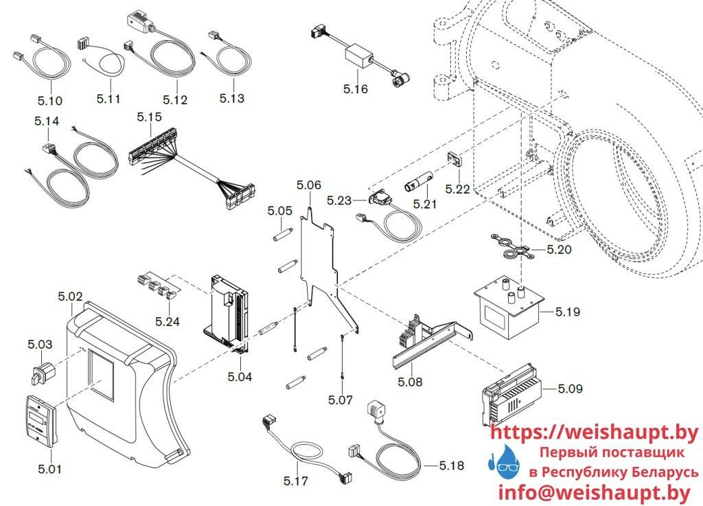 Запасные части к комбинированной горелке Weishaupt WM-GL30/3-A/ZM-R (W-FM 54). Схема 5.