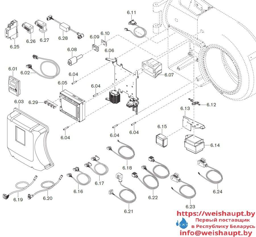 Запасные части к комбинированной горелке Weishaupt WM-GS30/2-A/ZM-R (W-FM 100/200). Схема 6.
