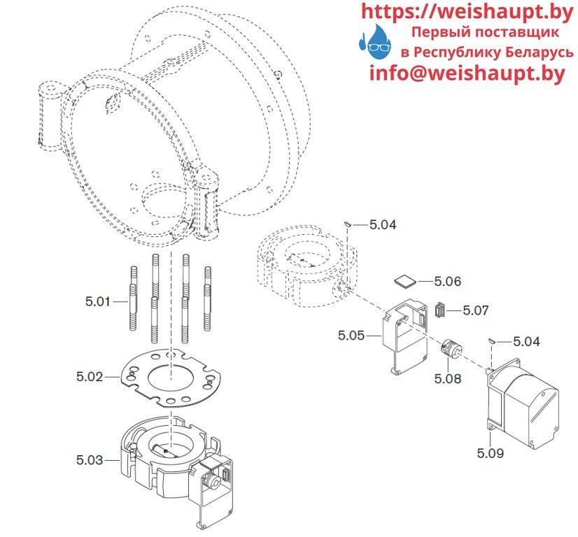 Запасные части к комбинированной горелке Weishaupt WM-GS30/3-A/ZM-R (W-FM 100/200). Схема 5.