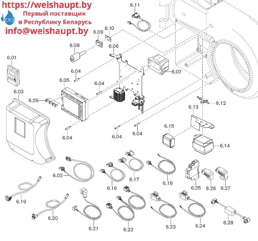 Запасные части к комбинированной горелке Weishaupt WM-GS30/3-A/ZM-R (W-FM 100/200). Схема 6.