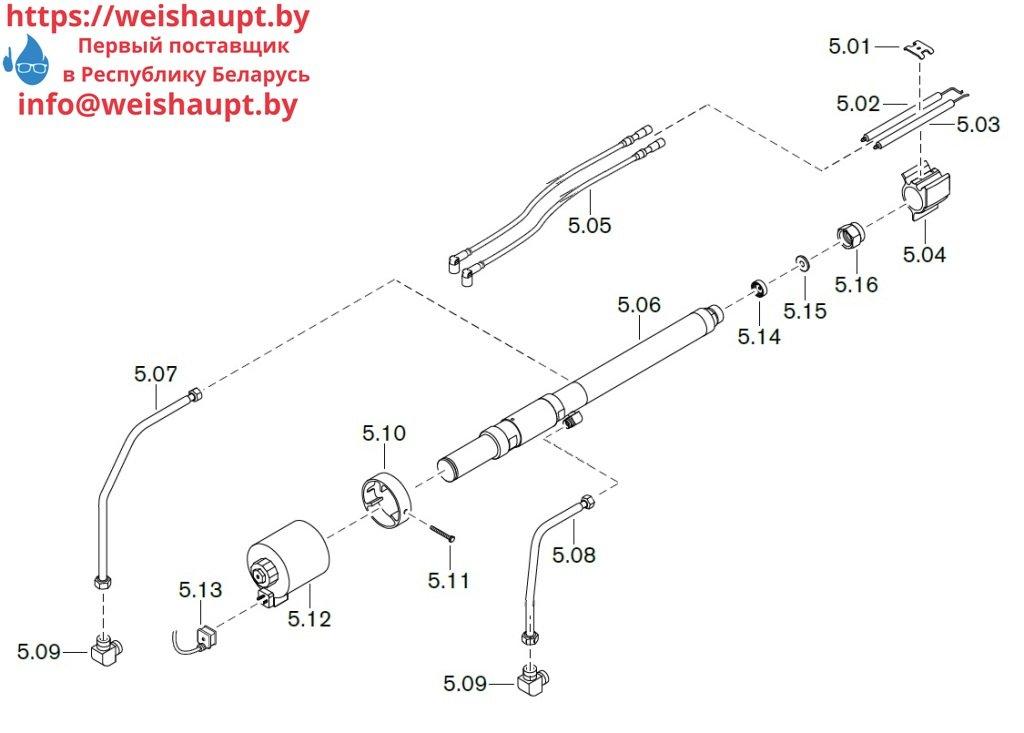 Запасные части к комбинированной горелке Weishaupt WM-GL50/2-A/ZM-R-NR (W-FM 100/200). Схема 5.