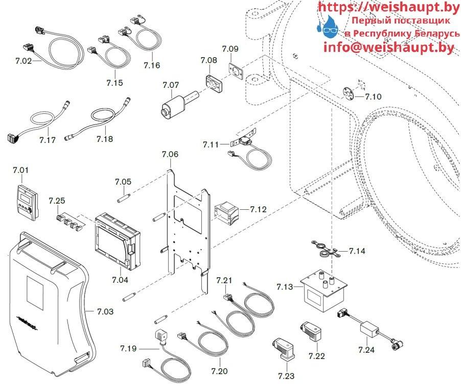 Запасные части к комбинированной горелке Weishaupt WM-GL50/2-A/ZM-R-NR (W-FM 100/200). Схема 7.