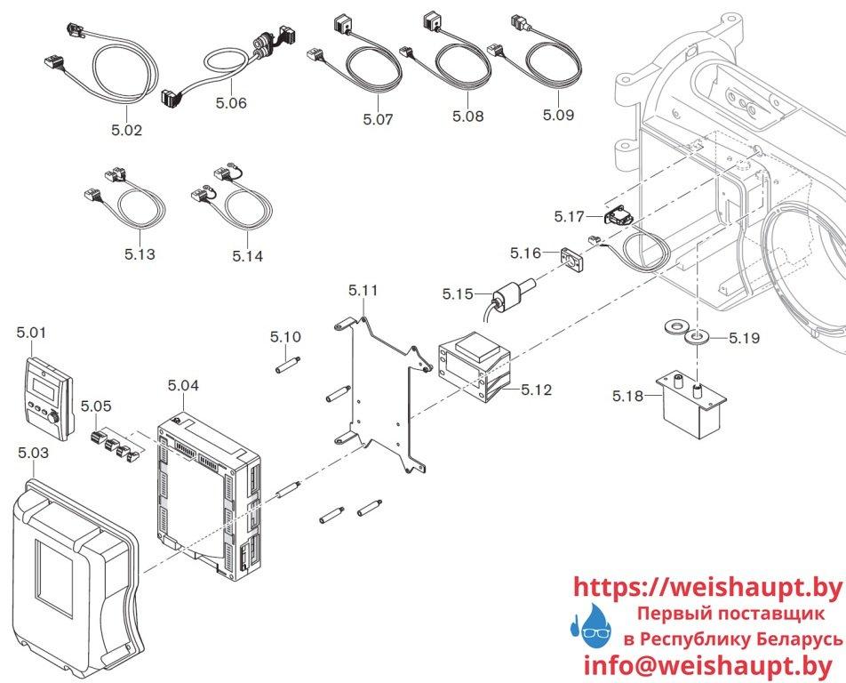 Запасные части к комбинированной горелке Weishaupt WM-GL10/1-A/ZM-T (W-FM 100). Схема 5.