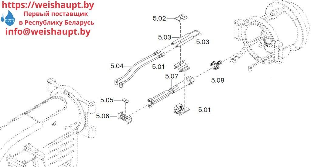 Запасные части к комбинированной горелке Weishaupt WM-GL10/1-A/ZM-T (W-FM 54). Схема 5.