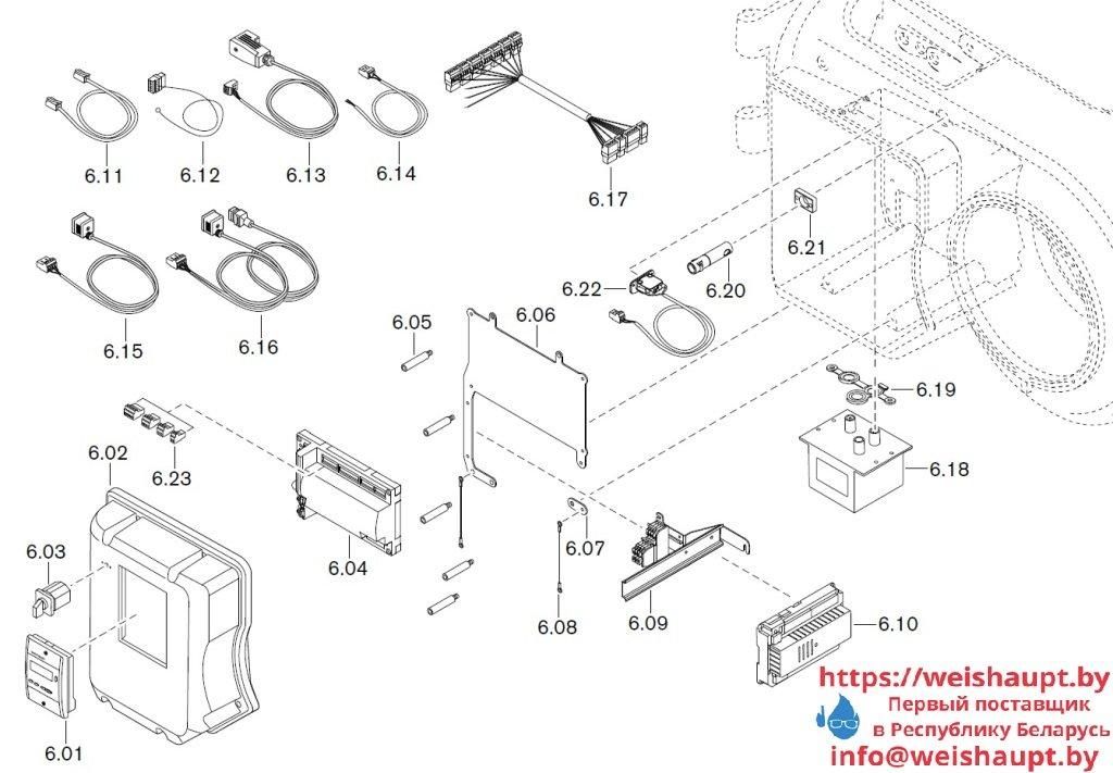Запасные части к комбинированной горелке Weishaupt WM-GL10/1-A/ZM-T (W-FM 54). Схема 6.