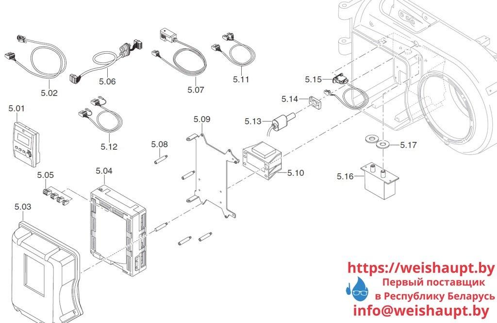 Запасные части к комбинированной горелке Weishaupt WM-GL10/2-A/ZM-R (W-FM 100). Схема 5.
