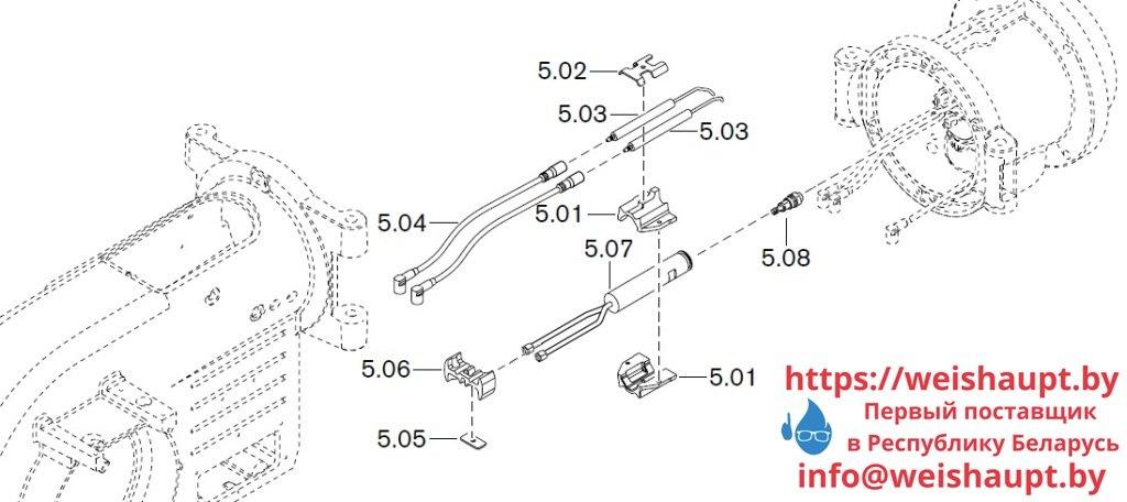 Запасные части к комбинированной горелке Weishaupt WM-GL10/2-A/ZM-R (W-FM 54). Схема 5.