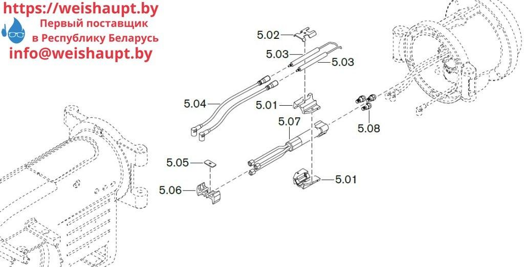 Запасные части к комбинированной горелке Weishaupt WM-GL10/2-A/ZM-T (W-FM 54). Схема 5.