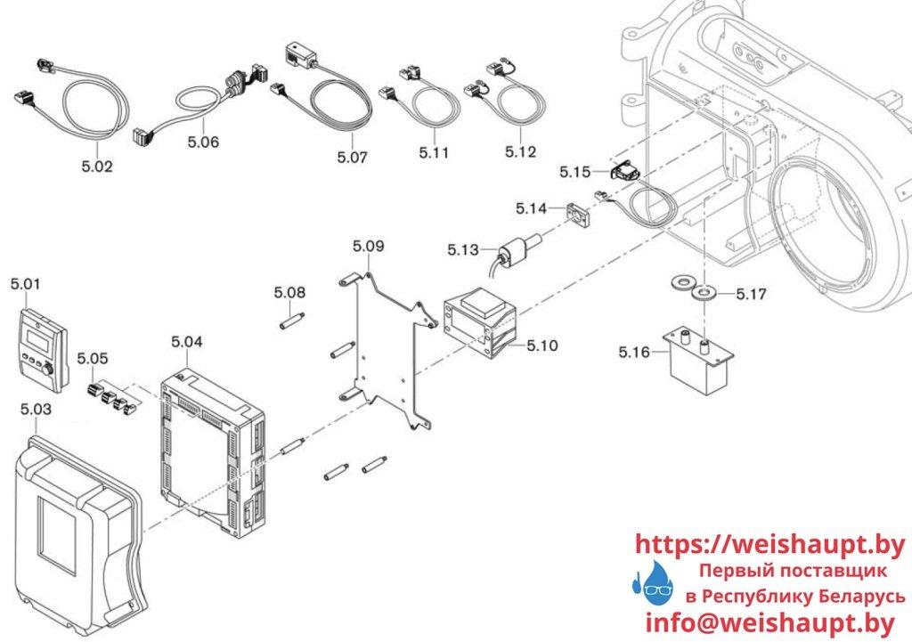 Запасные части к комбинированной горелке Weishaupt WM-GL10/3-A/ZM-R (W-FM 100). Схема 5.