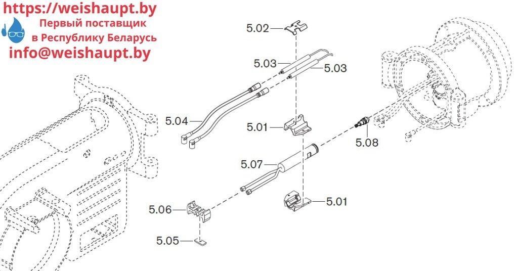 Запасные части к комбинированной горелке Weishaupt WM-GL10/3-A/ZM-R (W-FM 54). Схема 5.