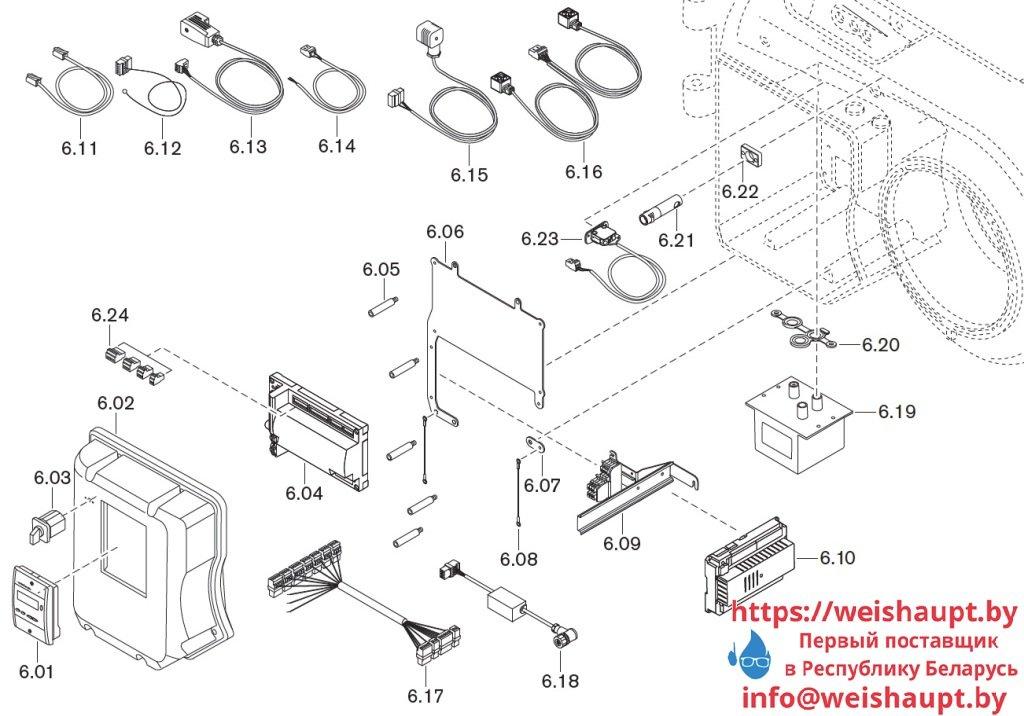 Запасные части к комбинированной горелке Weishaupt WM-GL10/3-A/ZM-R (W-FM 54). Схема 6.