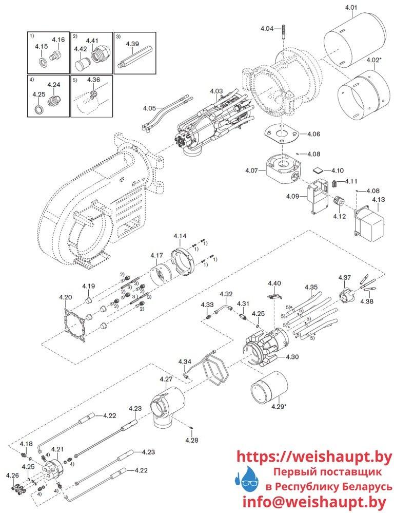 Запасные части к комбинированной горелке Weishaupt WM-GL10/3-A/ZM-T-3LN (W-FM 54). Схема 4.
