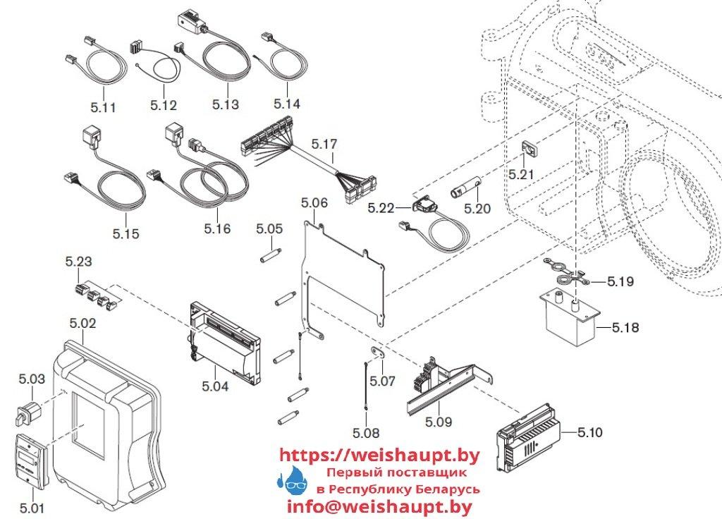 Запасные части к комбинированной горелке Weishaupt WM-GL10/3-A/ZM-T-3LN (W-FM 54). Схема 5.