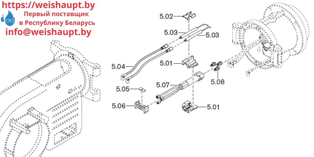 Запасные части к комбинированной горелке Weishaupt WM-GL10/3-A/ZM-T (W-FM 54). Схема 5.