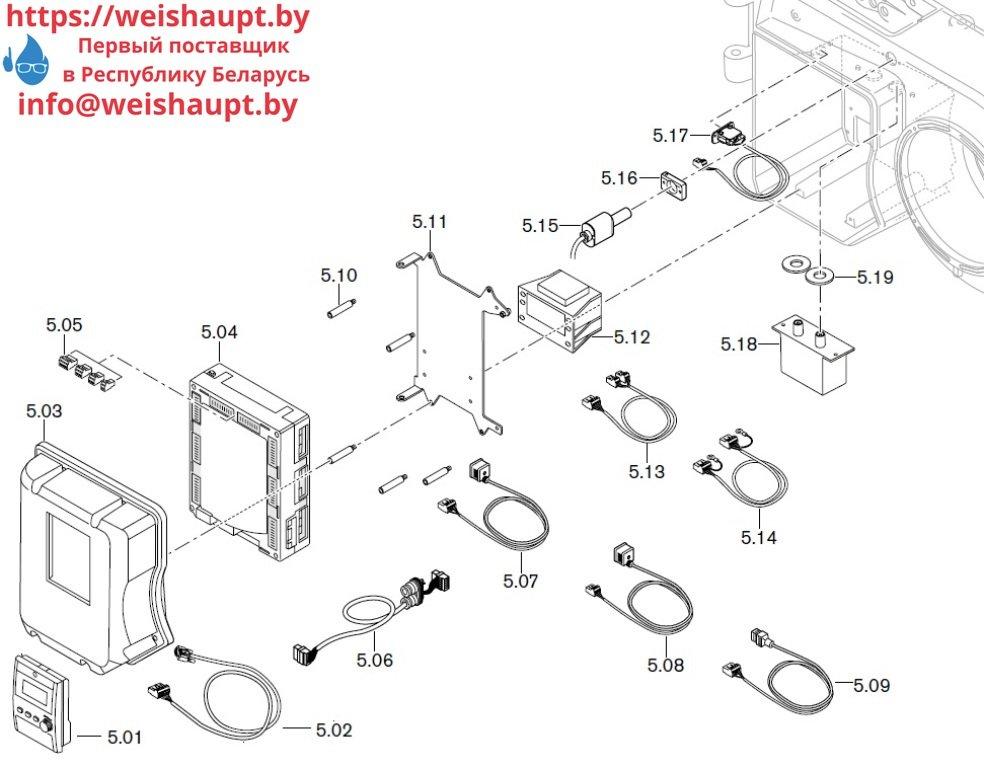 Запасные части к комбинированной горелке Weishaupt WM-GL10/3-A/ZM-T. Схема 5.