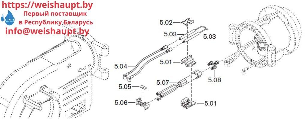 Запасные части к комбинированной горелке Weishaupt WM-GL10/4-A/ZM-T (W-FM 54). Схема 5.