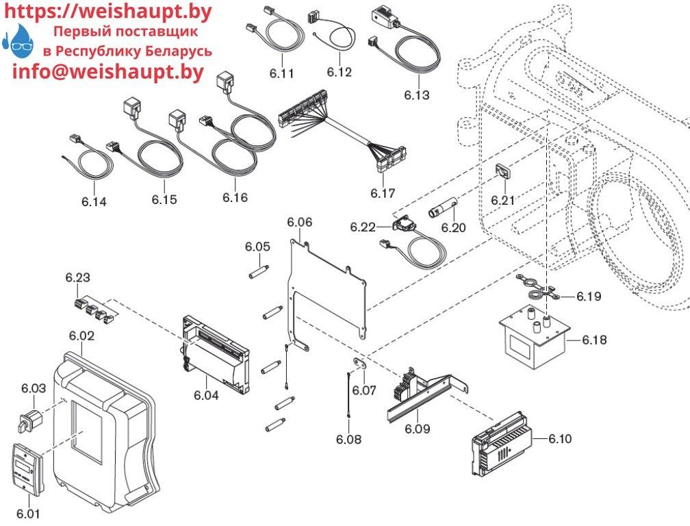 Запасные части к комбинированной горелке Weishaupt WM-GL10/4-A/ZM-T (W-FM 54). Схема 6.