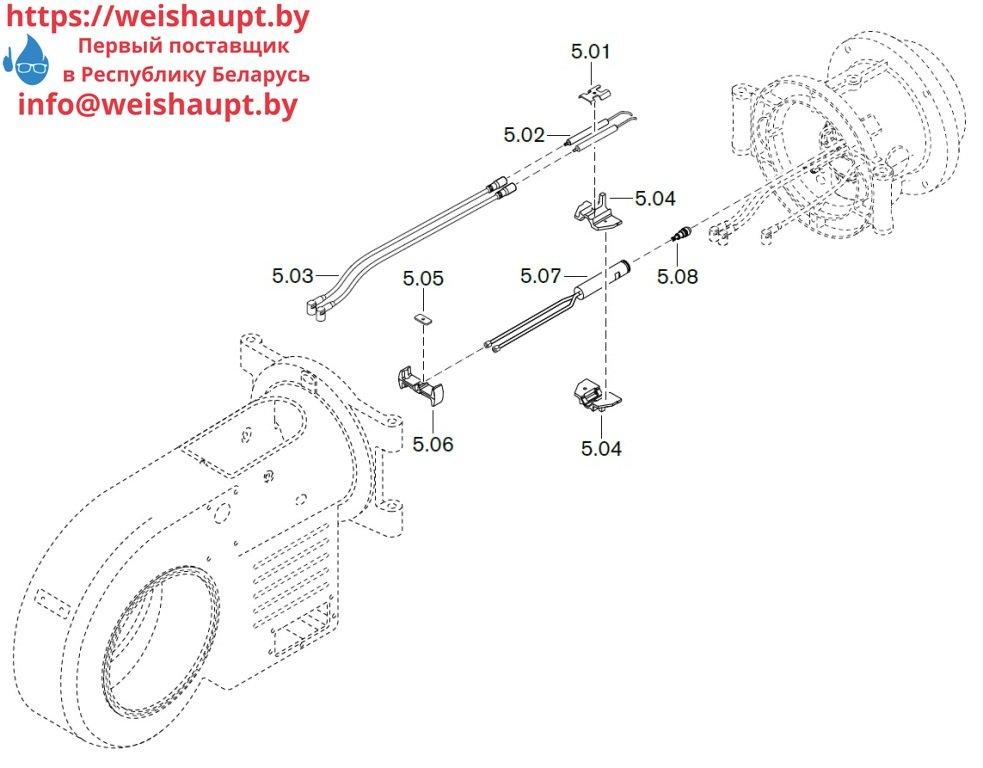 Запасные части к комбинированной горелке Weishaupt WM-GL20/2-A/ZM-R (W-FM 54). Схема 5.