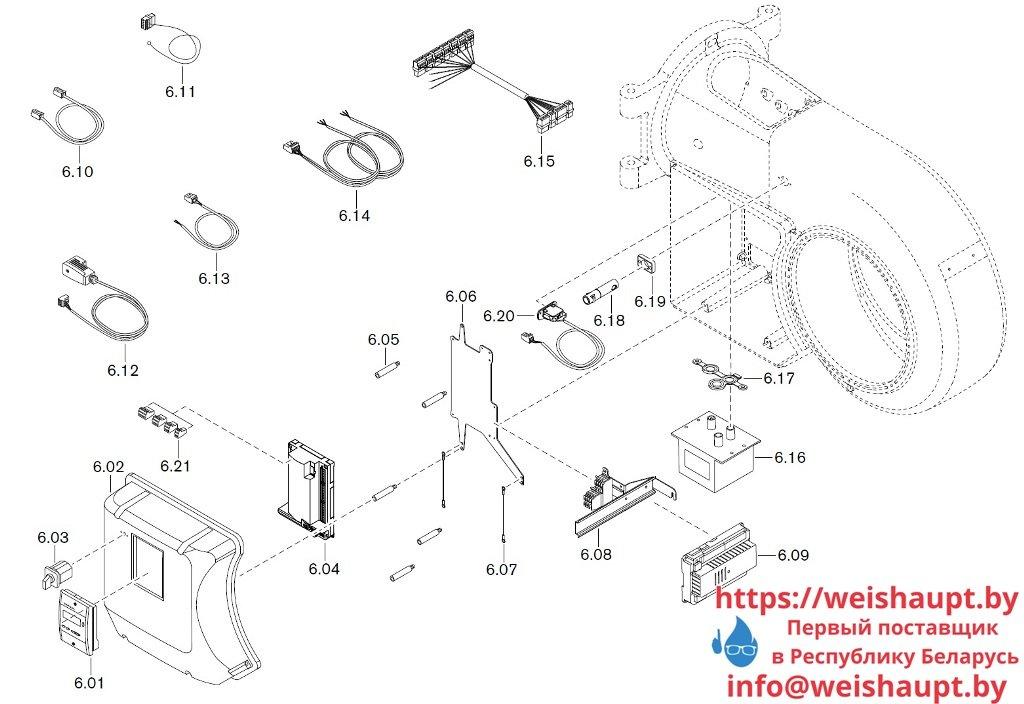 Запасные части к комбинированной горелке Weishaupt WM-GL20/2-A/ZM-R (W-FM 54). Схема 6.