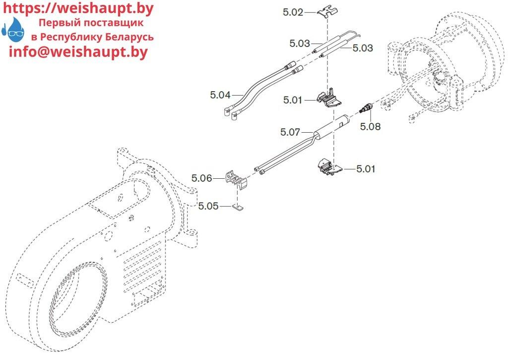 Запасные части к комбинированной горелке Weishaupt WM-GL20/3-A/ZM-R (W-FM 54). Схема 5