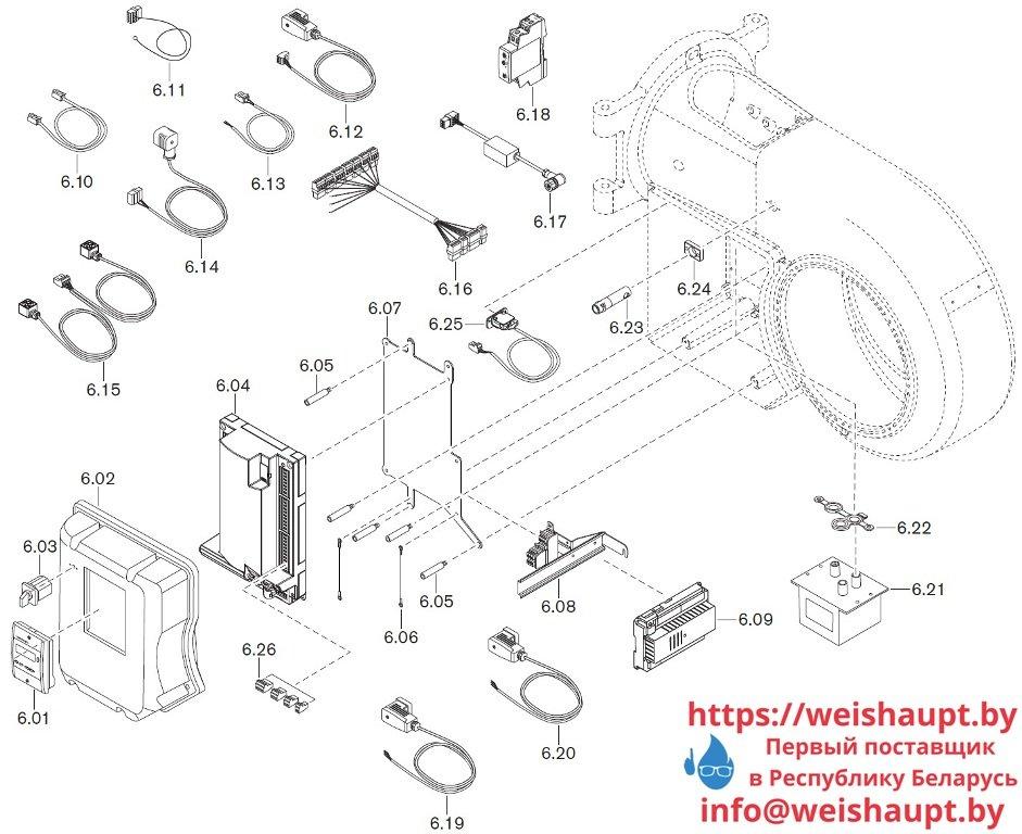 Запасные части к комбинированной горелке Weishaupt WM-GL20/3-A/ZM-R (W-FM 54). Схема 6.
