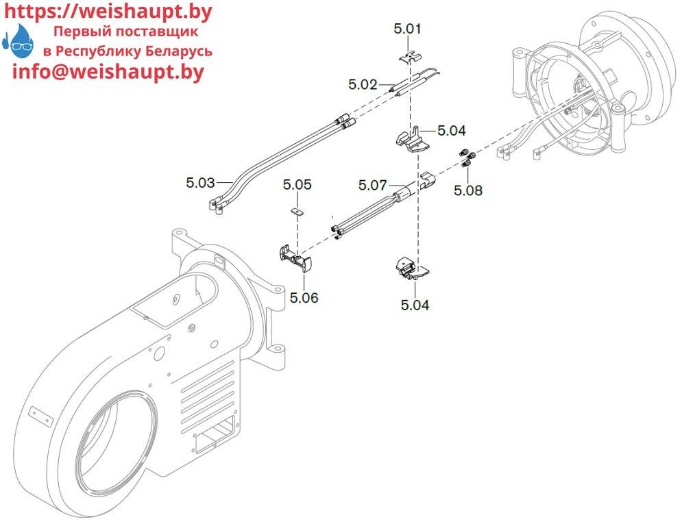 Запасные части к комбинированной горелке Weishaupt WM-GL20/3-A/ZM-T (W-FM 100/200). Схема 5.