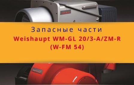 Запасные части к комбинированной горелке Weishaupt WM-GL20/3-A/ZM-R (W-FM 54)