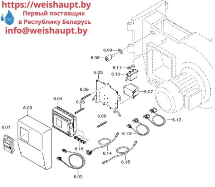 Запчасти к газовым горелочным устройствам Weishaupt G50/1-B ZM-NR. Схема 6.