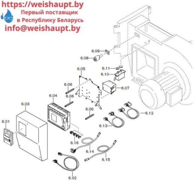 Запчасти к газовым горелочным устройствам Weishaupt G50/2-A ZM-NR. Схема 6.